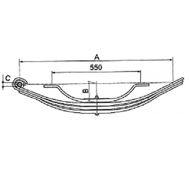LEAF SPRINGS - PARABOLIC TYPE