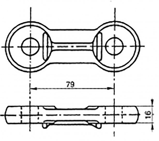 NON-DRILLED LINK