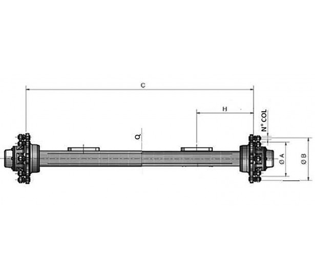 AXLES WITHOUT BRAKE