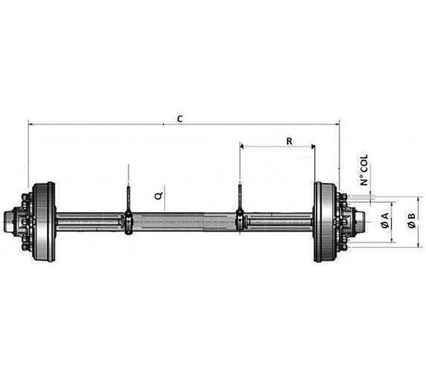 AXLES WITH BRAKE MECHANICAL...